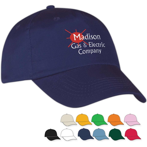 Embroidery - Medium Profile Cap With Five Panels, Unstructured Crown And Pre-curved Visor Photo
