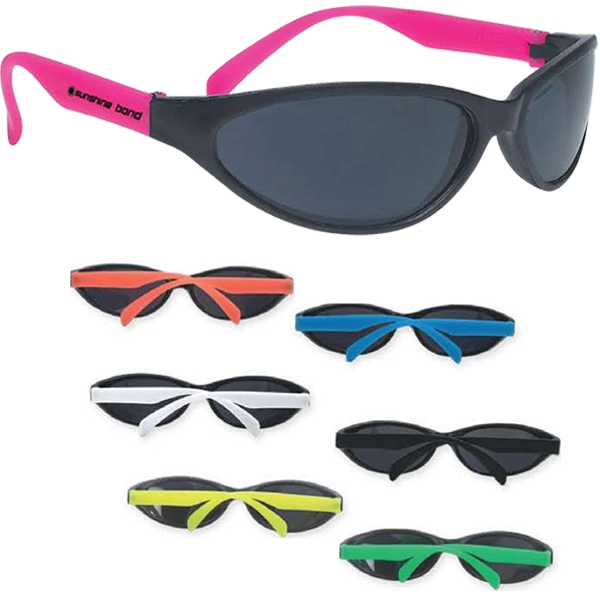 Wave Rubberized Sunglasses Made Of Recycled Material Photo