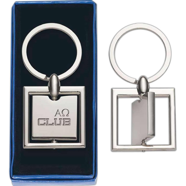 Square - Spinning Metal Key Tag Photo