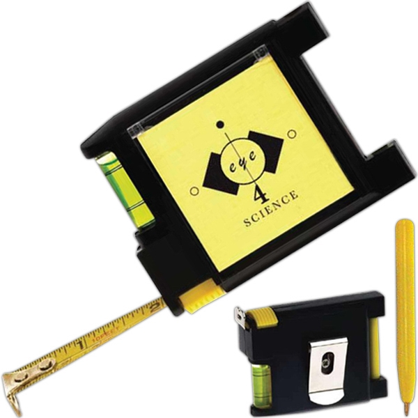 Multi Function Tape Measure With Notepad And Pen Photo