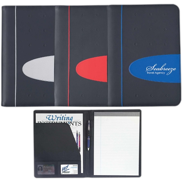 "Eclipse - Pvc Portfolio With 8 1/2"" X 11"" 30 Page Writing Pad Photo"