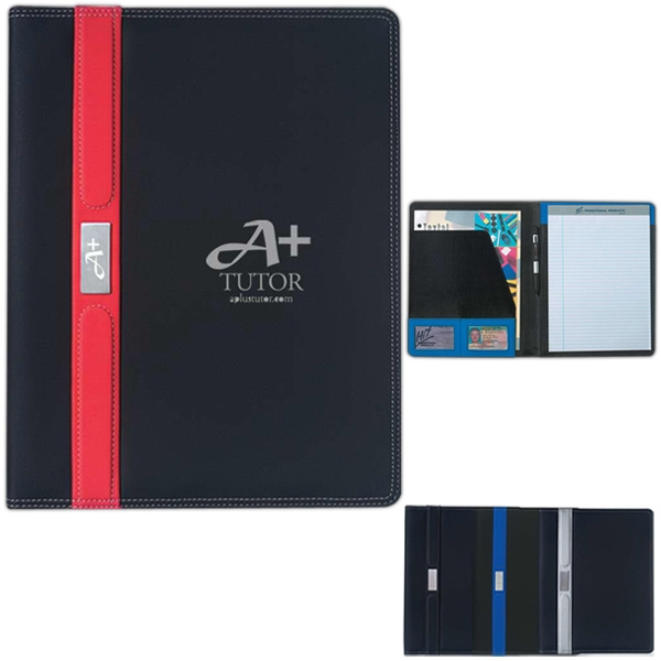 Contemporary - Portfolio With 30 Page Writing Pad, Pen Loop, And Card Holders Photo