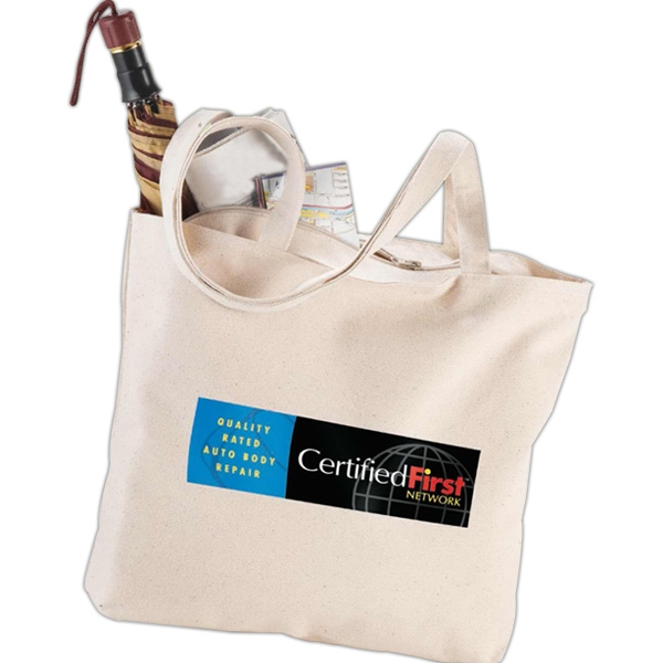Signature - Cotton 12 Oz. Zippered Tote Bag Photo