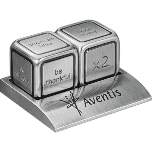 Icon - Stainless Steel Dice, Can Be Rolled For 36 Different Leadership Phrases Photo