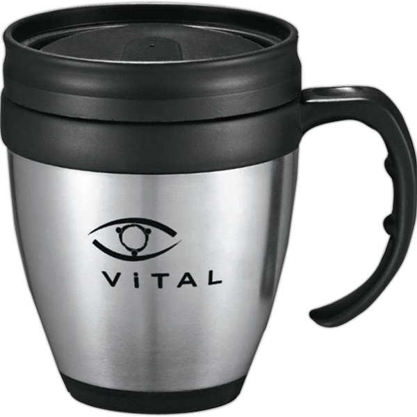 Java - Desk Mug, Made Of Stainless Steel With Plastic Liner, 14 Oz Photo