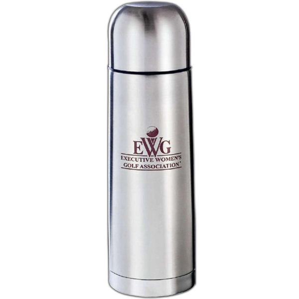 Java - Silver Stainless Steel Insulated Bottle With Stainless Steel Liner, 16 Oz Photo