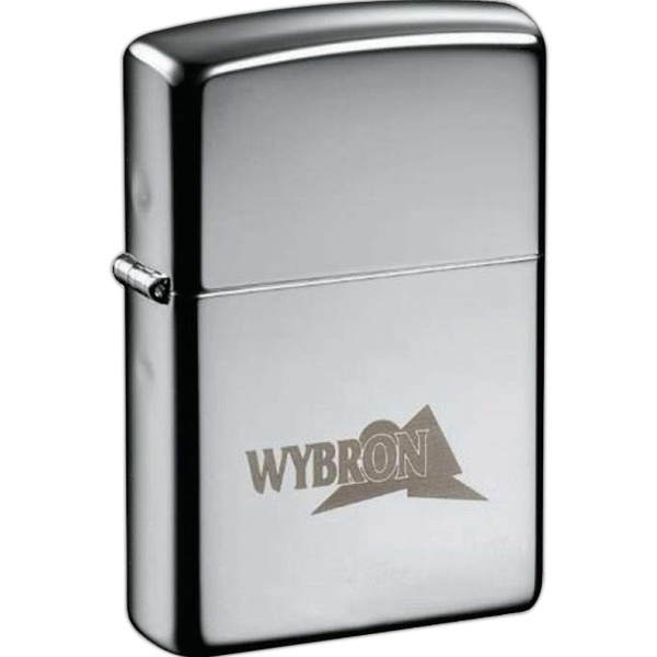 Zippo (r) - Solid Brass Windproof Lighter With A Sturdy Nickel Hinge, High Polish Chrome Photo
