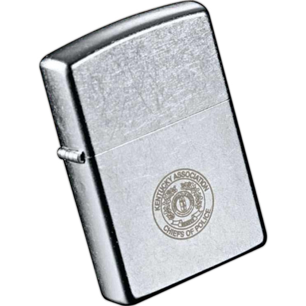 Zippo (r) - Solid Brass Windproof Lighter With A Sturdy Nickel Hinge, Street Chrome Photo