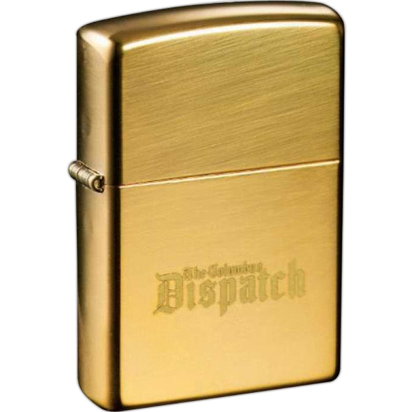 Zippo (r) - Gold Color, Brass Windproof Lighter With A Sturdy Nickel Hinge, High Polish Brass Photo