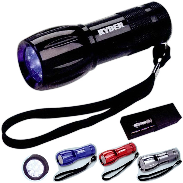 Tactical Tool Zone (tm) - Led Flashlight (9 Led) With Three Aaa Batteries Photo