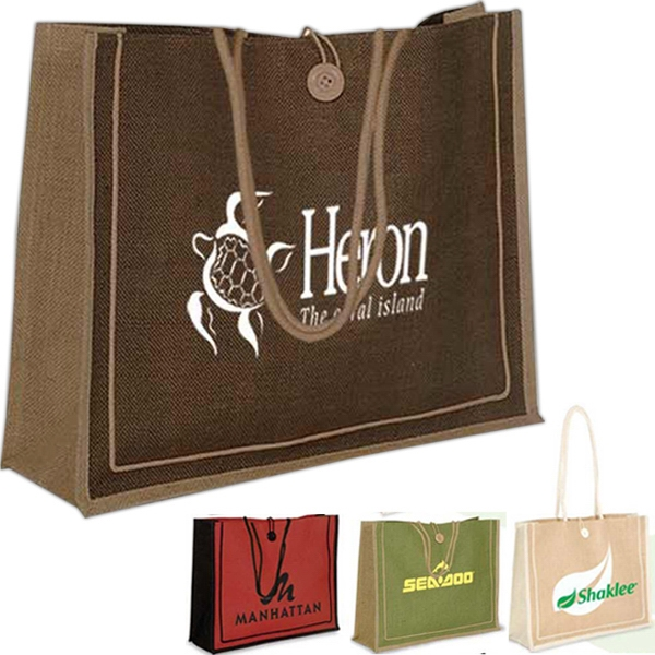 Milan - Jute Tote Bag Photo