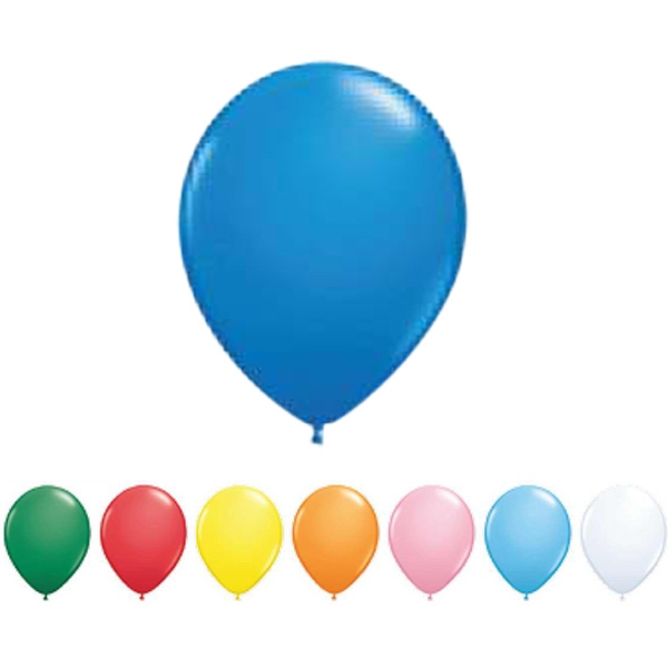 "Qualatex (r) - 9"" - Standard Colors Round Latex Balloon Photo"