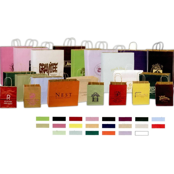 Blank Bags - Colored Shadow Stripe Paper Bags