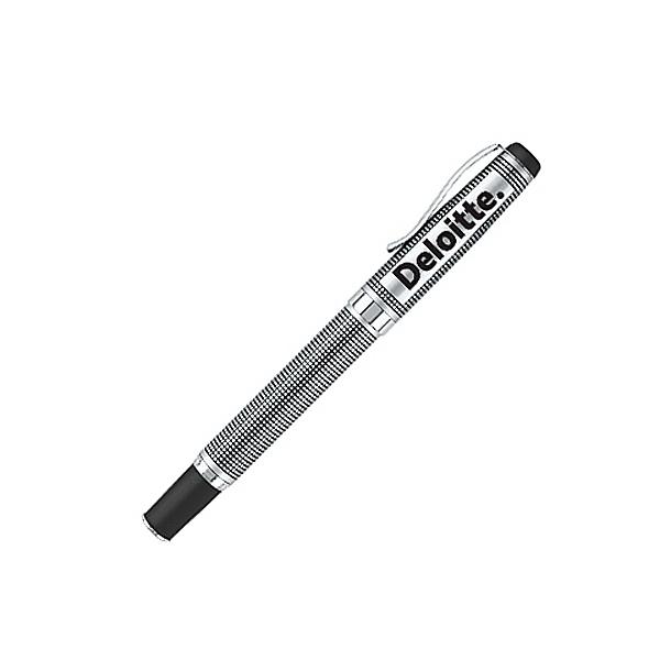 Lofty satin chrome rollerball pen