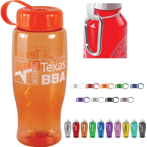 27oz. Sports Bottle With Tethered Lid Photo