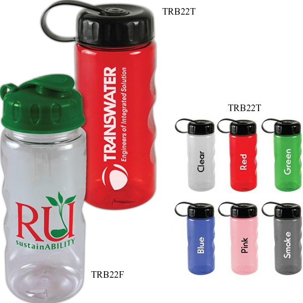 Personal Refillables (tm) - Mini Mountain Bottle, 22 Oz., With Tethered Lid Photo