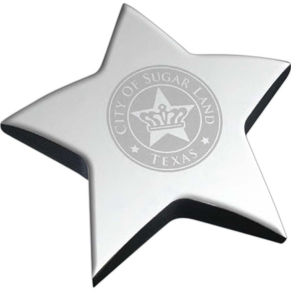 Windsor Collection Silver Star - Star Shaped Paperweight Photo