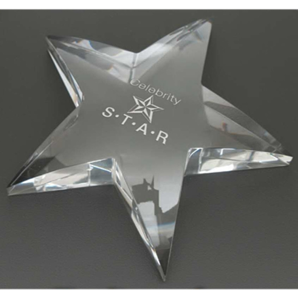 Radiant Star Windsor Collection - Star Shaped Award Paperweight Photo