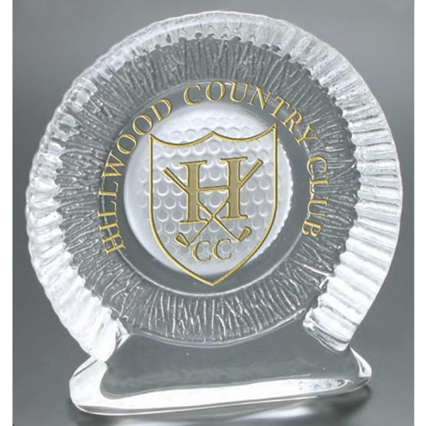 Windsor Collection - Medium Standing Golf Ball Award - This Award Includes A Frosted Golf Ball Design Molded Into The Item Photo