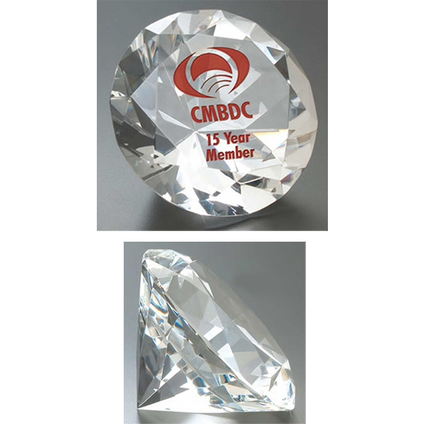 Diamante Windsor Collection - Small Diamante Paperweight - This Paperweight Showcase A Myriad Of Facets That Refract The Light Gorgeously Photo