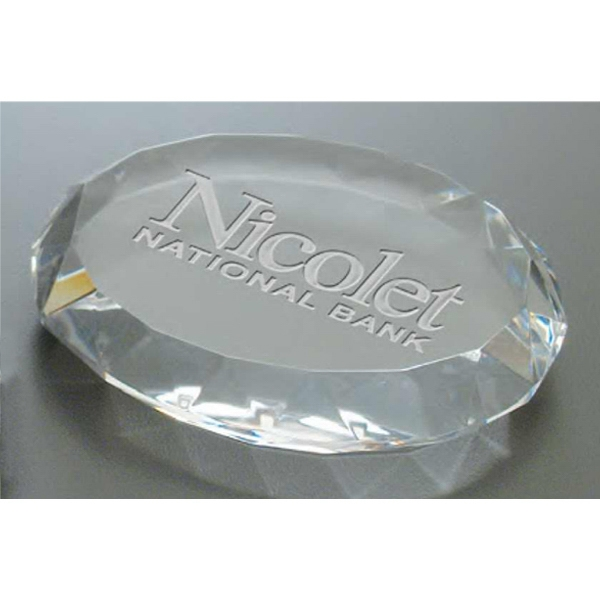 Windsor Collection - Paperweight Features A Unique Hand Polished Edge Design Which Adds To Its Elegance Photo