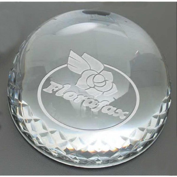 "Wellington Windsor Collection - Cut Crystal Paperweight. 3.5"" Diameter Photo"