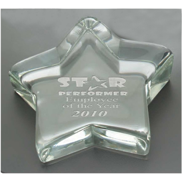 Ceo Windsor Collection - Star Shaped Lead Crystal Paperweight Award Photo