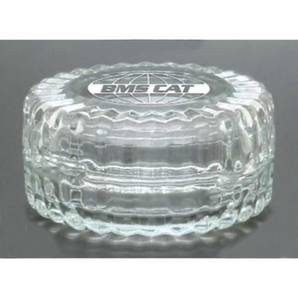 "Ellipse Windsor Collection - Round Desk Trinket Box, 4"" X 2"" Photo"