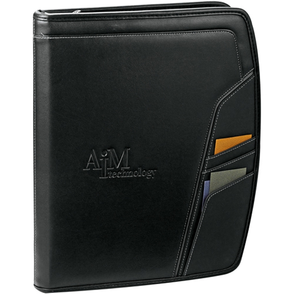 Precision Zippered Padfolio - UltraHyde zippered closure padfolio.