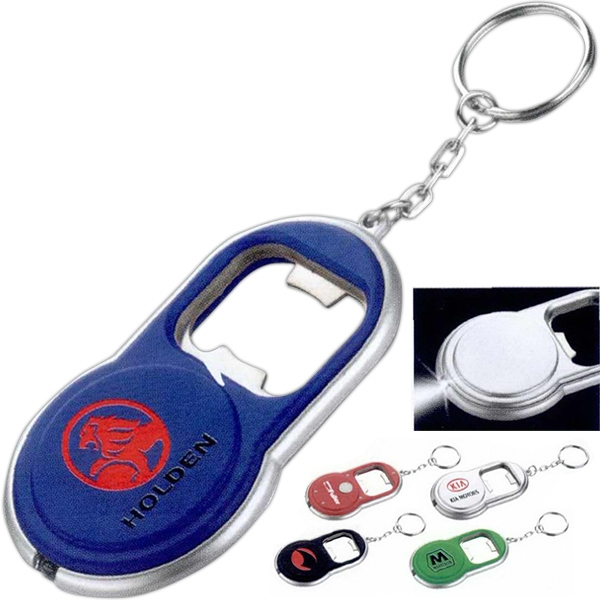 Round Led Key-light/bottle Opener With Keychain Attachment Photo