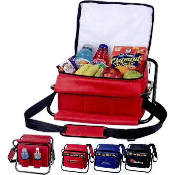 Cooler Chair With Durable Frame, Padded Seat, Bottle Holders And Heat Sealed Liner Photo