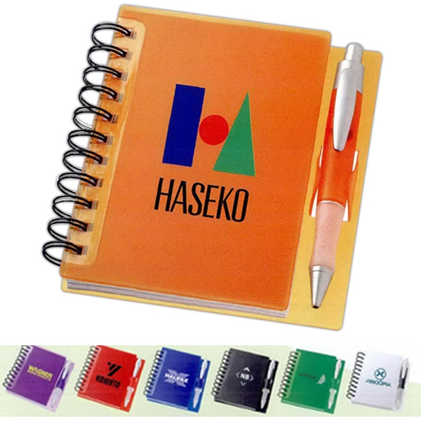 The Times - Spiral Notebook With Plastic Cover And Pen Clip. Includes Pen In Matching Color Photo