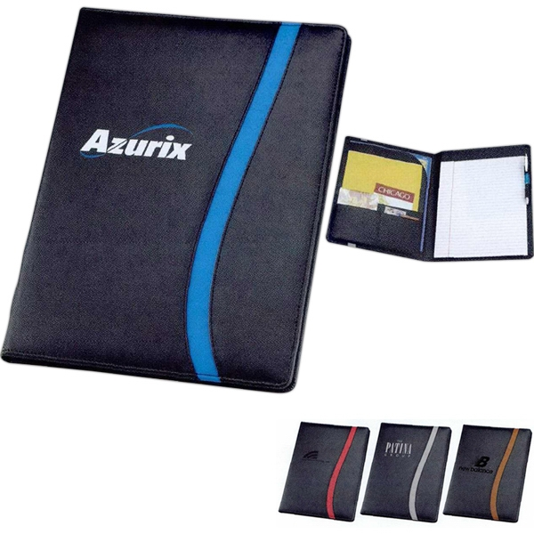 Session - Leatherette Portfolio Has File Pocket, Card Slots And Pen Loop Photo