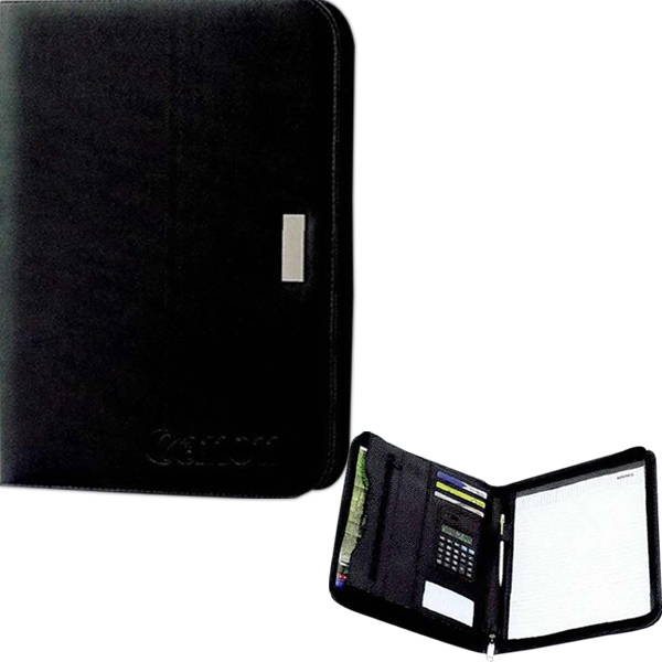 New Yorker - Zippered Portfolio In Simulated Leather With Notepad Photo