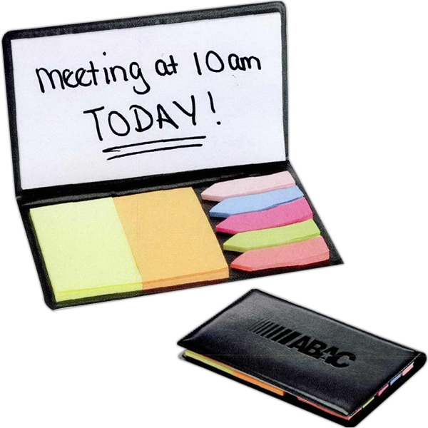 Slimline - Sticky Memo Holder With 2 Sticky Pads, Sticky Flags And White Sticky Pad Photo