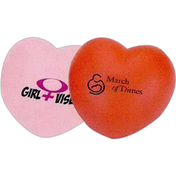 Heart Shaped Stress Reliever. Squeezable Foam Stress Ball Photo