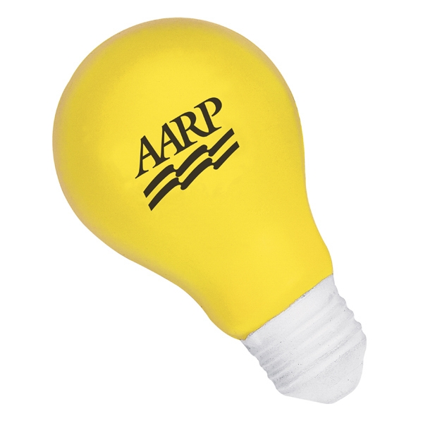 Light Bulb Shape Stress Reliever. Polyurethane, Squeezable Foam Photo