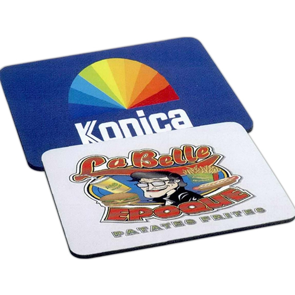 "Rectangular 1/4"" Rubber Backing Mouse Pad With Polyester Surface Photo"