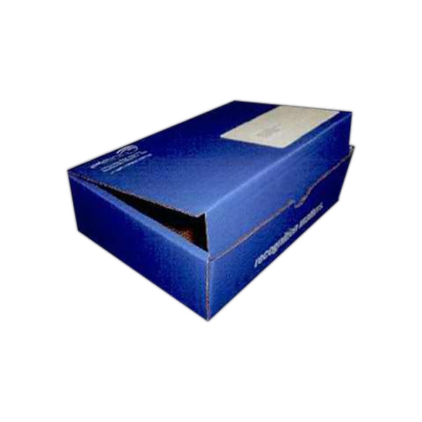 "Addition Of Spot Mount Label - B-flute Corrugated Tuck Box With Inside Tuck Closure, 8"" X 3 1/2"" X 3 1/2"" Photo"