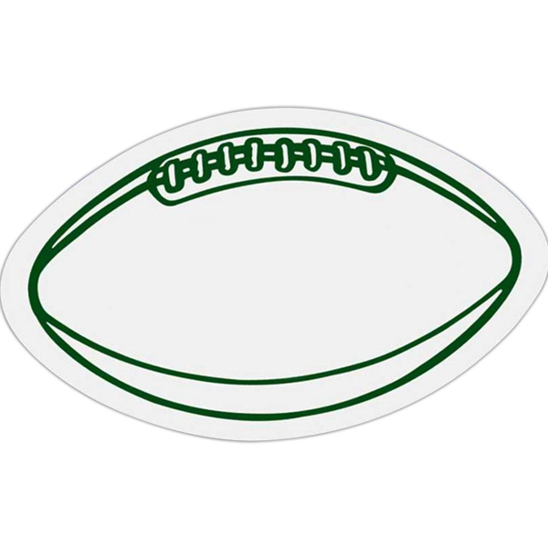 Football - Die Cut Car Magnet, Adheres To A Vehicle Door Or Other Metal Surface Photo