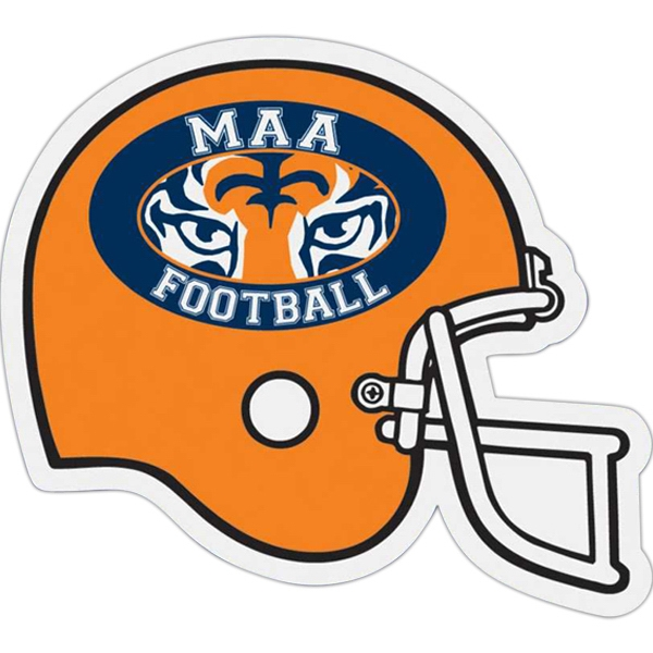 Football Helmet - Die Cut Car Magnet, Adheres To A Vehicle Door Or Other Metal Surface Photo