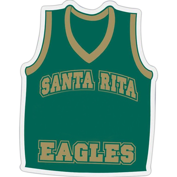 Basketball Jersey - Die Cut Car Magnet, Adheres To A Vehicle Door Or Other Metal Surface Photo