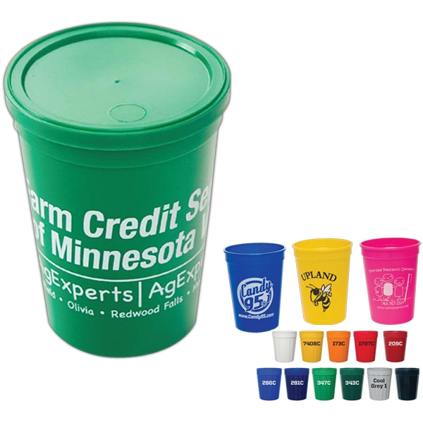 Durable Plastic Stadium Cup, 12 Oz Photo