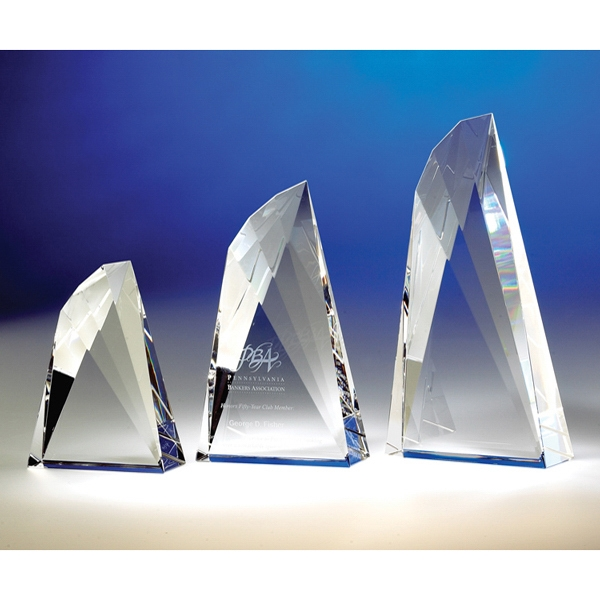 "Flight - Flight 8"" Wing-shaped Crystal Award By Crystal World. Sp191 Photo"