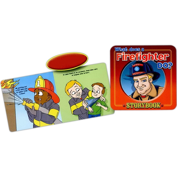 Children's Storybook On What A Firefighter Does Photo