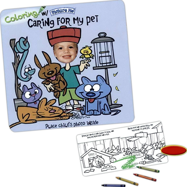 Coloring With Picture Me(r) - Children's Coloring Book On Caring For Their Pet Photo