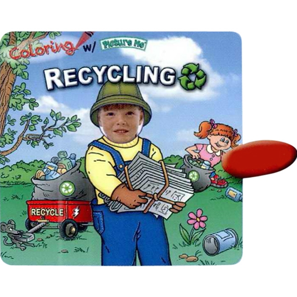 Coloring With Picture Me(r) - Children's Coloring Book On Recycling Photo