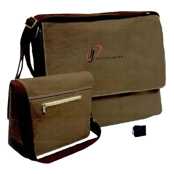 Threads - Postal Bag With Magnetic Flap Closure And Interior Pockets For Storage Photo