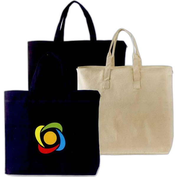 "Journey - Natural Canvas Tote Bag Made Of 10 Oz Cotton, Size Of 17"" X 15"" Photo"