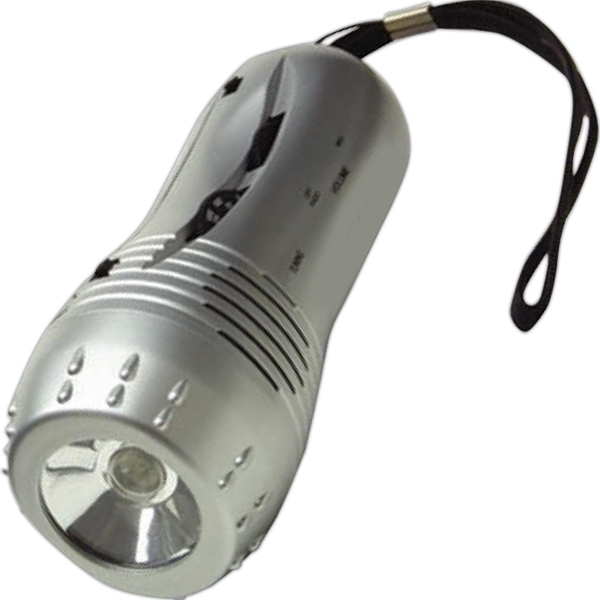 Hi-tech - Flashlight Radio Features An Am/fm Radio, Siren And Built In Speaker Photo
